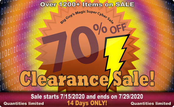 Big Guy's Clearance Sale July 2020