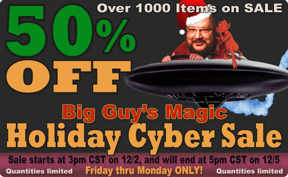 It's a 50% Off Holiday Sale at Big Guy's!