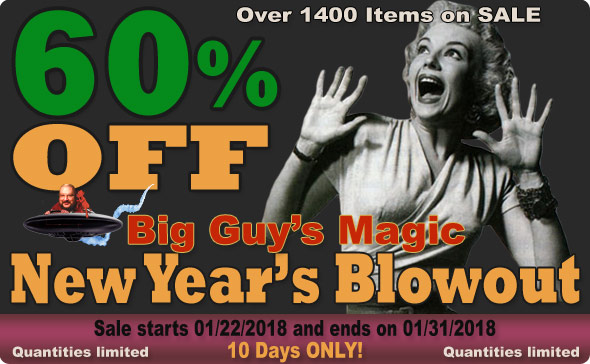 Big Guy's Jan 2018 New Year's BlowOut Sale! 60% Off Select Items
