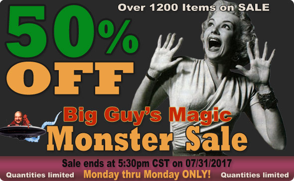 Big Guy's July 2017 Cyber Sale! 50% Off Select Items