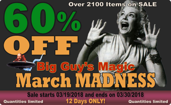 It's Big Guy's 2018 March MADNESS! 60% Off Select Items!