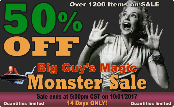 Big Guy's Sept 2017 Cyber Sale! 50% Off Select Items