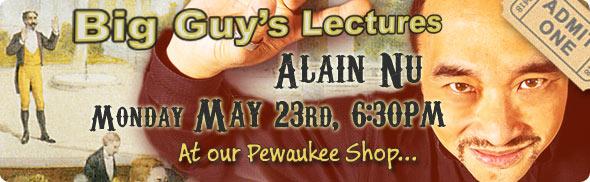 Alain Nu lecture at Big Guy's