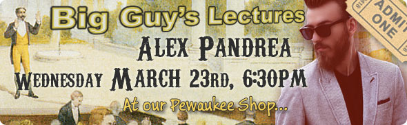 Alex Pandera lecture at Big Guy's