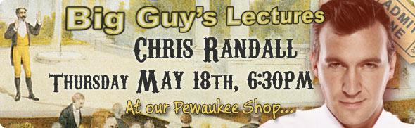 Chris Randall lecture at Big Guy's