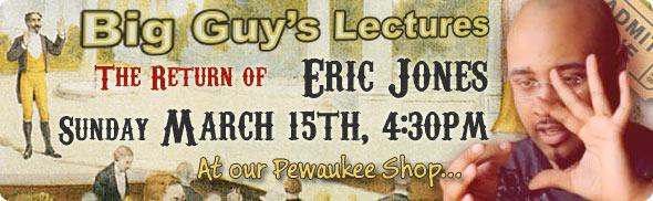 Eric Jones lecture at Big Guy's
