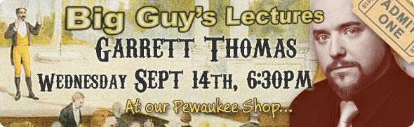 Garrett Thomas lecture at Big Guy's