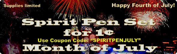 Spirit Pen Set for 1 US Cent during July