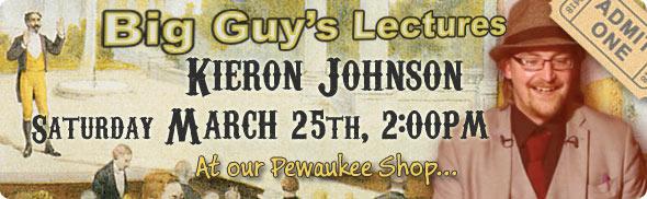 Kieron Johnson lecture at Big Guy's