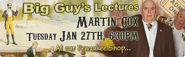Martin Cox Lecture at Big Guy's Magic Shop