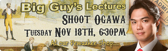 Shoot Ogawa lecture at Big Guy's